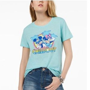 Love Tribe Mickey & Minnie Mouse Graphic T-Shirt